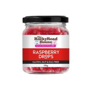 Raspberry Drops 170g Lolly Candy The Rocky Road House