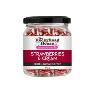 Strawberries And Cream Humbugs 170g Rock Candy The Rocky Road House